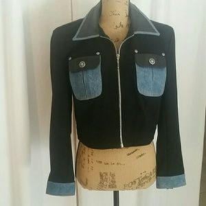 Isabel USA Womens 100% Leather, Poly and  Denim
